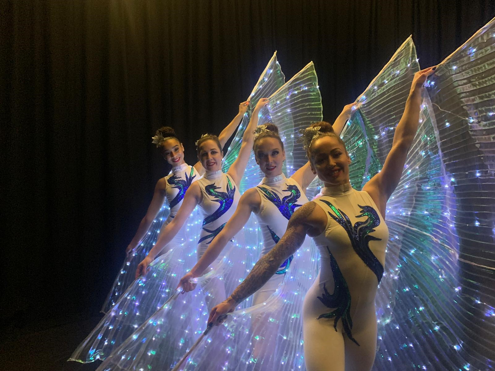 LED show Isis wings