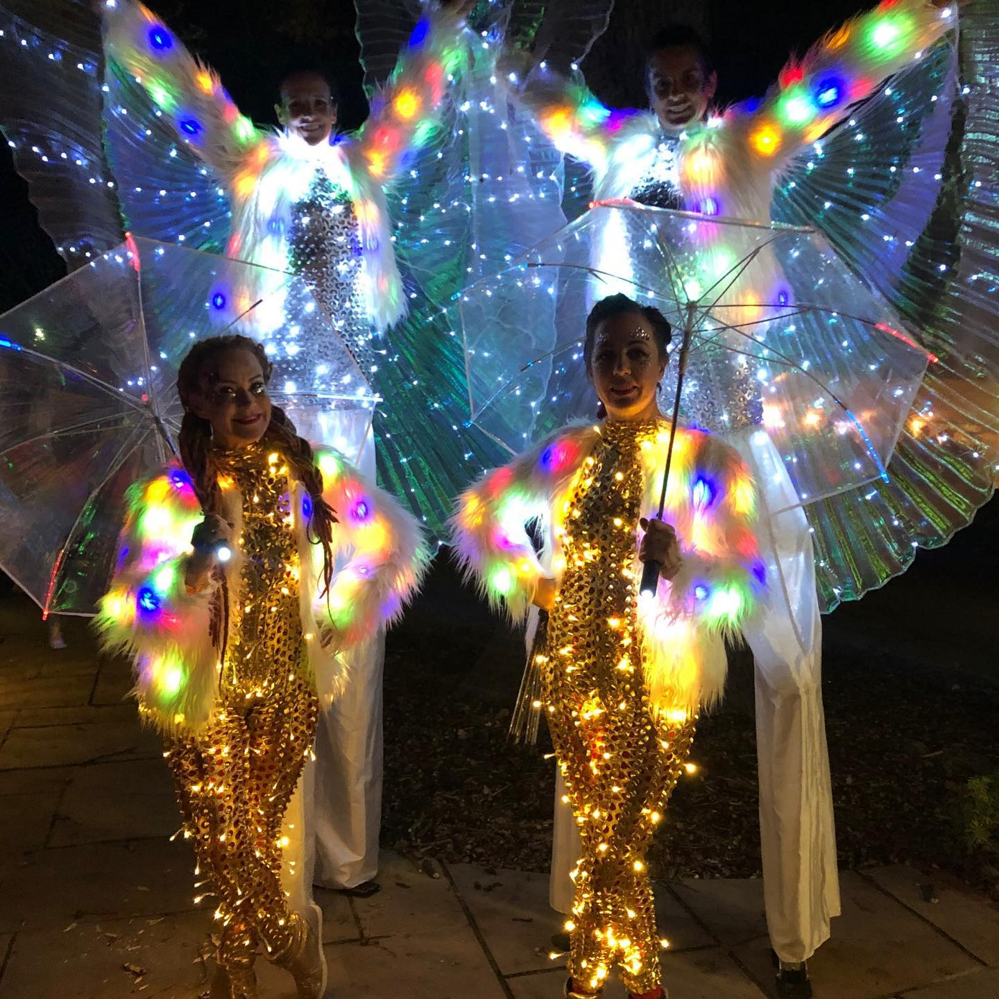 LED Show stilts walkers