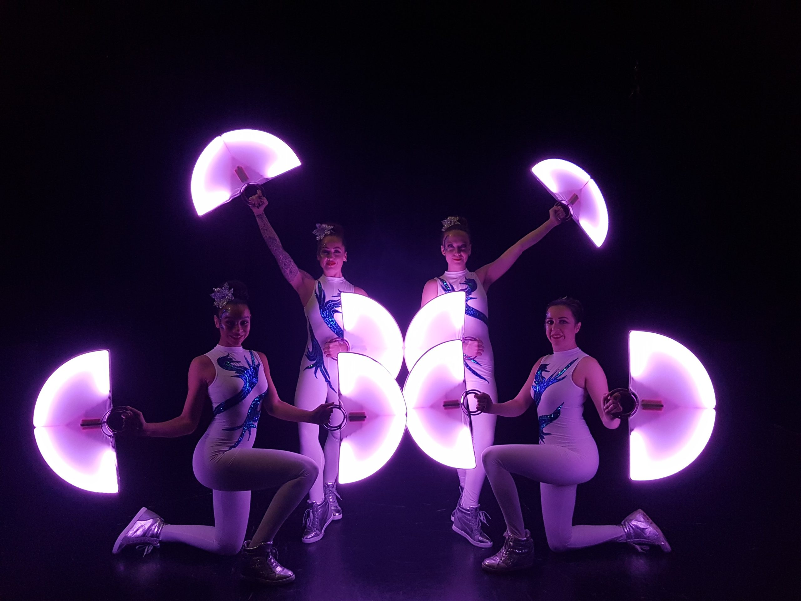 LED show moon fans